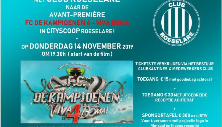 CLUB ROESELARE FILMAVOND – FC DE KAMPIOENEN 4 – VIVA BOMA