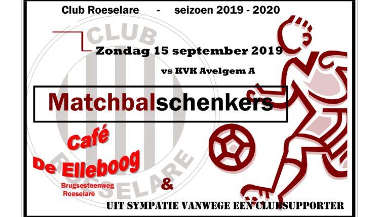 Wedstrijdbalschenkers Club Roeselare – KVK Avelgem – Café De Elleboog + een trouwe suppporter