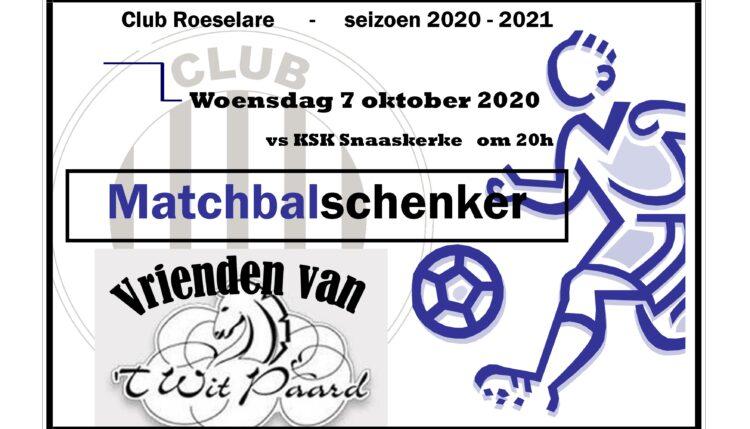 Nu woensdag Club Roeselare – KSK Snaaskerke