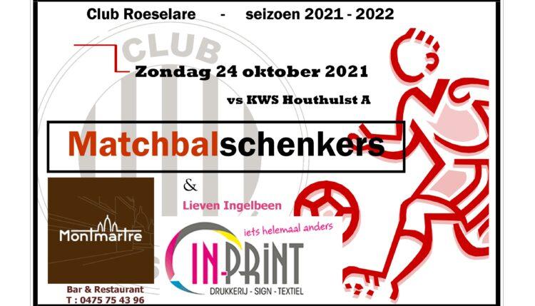 Matchbalschenkers Club – KWS Houthulst : Montmartre & Lieven Ingelbeen